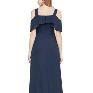 BCBGMaxazria Charley Cold-Shoulder Gown